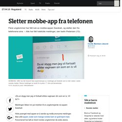 Ungdomsforeldre bør kjenne til appen Sarahah - NRK Rogaland - Lokale nyheter, TV og radio