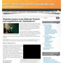 """Websites hacken in der Bildung? Einfach und ungefährlich mit """"Hackasaurus"""""""