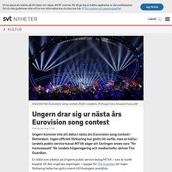 Ungern drar sig ur nästa års Eurovision song contest