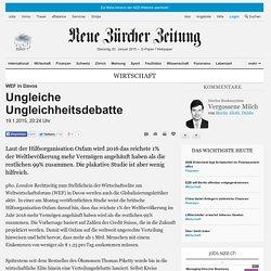 WEF in Davos: Ungleiche Ungleichheitsdebatte - Wirtschaft Nachrichten