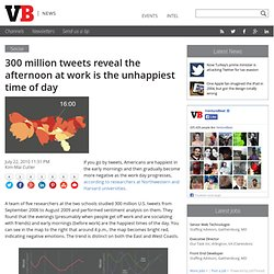 300 million tweets reveal the afternoon at work is the unhappiest time of day
