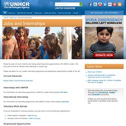UNHCR: Jobs and Internships