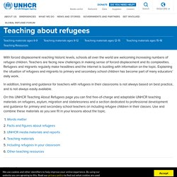 - Teaching about refugees