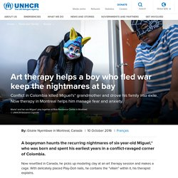 UNHCR - Art therapy helps a boy who fled war keep the nightmares at bay