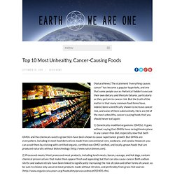 10 Most Unhealthy Foods