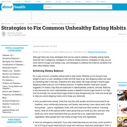 Unhealthy Eating - Strategies to Combat Common Unhealthy Eating Habits