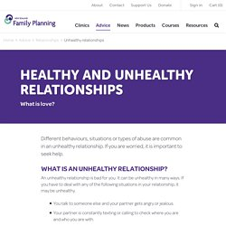 Unhealthy Relationships - Family Planning