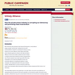 Unholy Alliance | Public Campaign