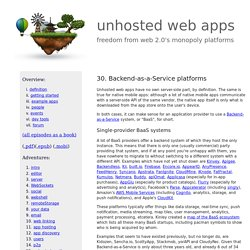 unhosted web apps 30: baas