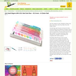 Uni-ball Signo (DX) UM-151 Gel Ink Pen - 0.5 mm - 6 Color Set