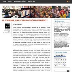 UniAlter » Blog Archive » LE TOURISME, UN FACTEUR DE DÉVELOPPEMENT?