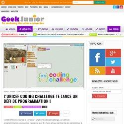 L'UNICEF Coding Challenge te lance un défi de programmation ! - Geek Junior -