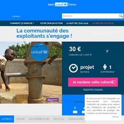 Team UNICEF - La communauté des exploitants s'engage !