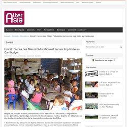 Unicef: l'accès des filles à l'éducation est encore trop limité au Cambodge