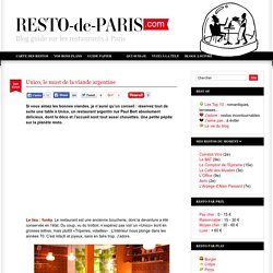 Unico restaurant Paris paris