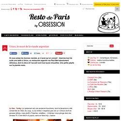 Unico restaurant Paris paris