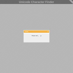 Unicode Character Finder