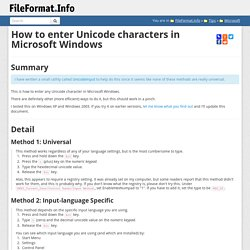 How to enter Unicode characters in Microsoft Windows