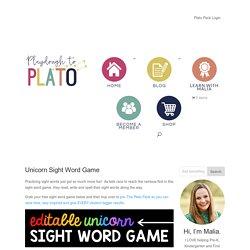 Unicorn Sight Word Game