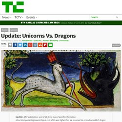 Unicorns Vs. Dragons