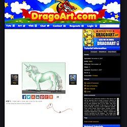 How to Draw a Unicorn, Step by Step, Unicorns, Fantasy, FREE Online Drawing Tutorial, Added by Dawn, December 4, 2007, 12:19:45 am