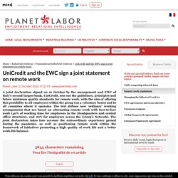 UniCredit and the EWC sign a joint statement on remote work - Planet Labor