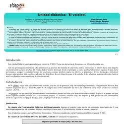 Unidad didáctica: 'El voleibol'