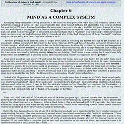 Unification of Science and Spirit: Chapter 6 - MIND AS A COMPLEX SYSETM