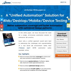 "White Paper on EzTest A ""Unified Automation"" Solution for Web/Desktop/Mobile/Device Testing"