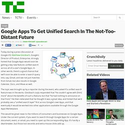 Google Apps To Get Unified Search In The Not-Too-Distant Future
