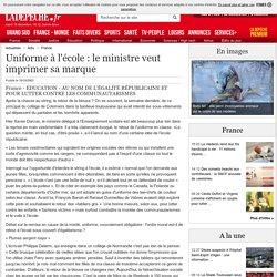Uniforme à l'école : le ministre veut imprimer sa marque - 10/10/2003 - LaDepeche.fr