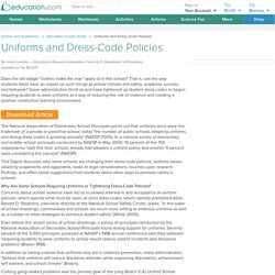 Uniforms and Dress-Code Policies