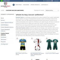 Custom Soccer Uniforms & sublimation soccer jerseys