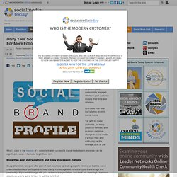 Unify Your Social Media Brand Profiles