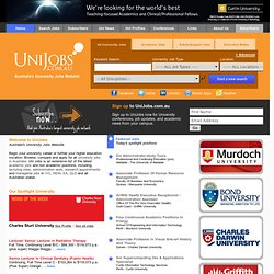 Australia's University Jobs Website - www.UniJobs.com.au