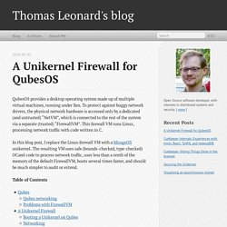 A Unikernel Firewall for QubesOS - Thomas Leonard's blog