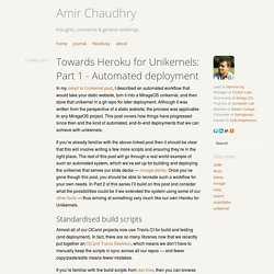 Towards Heroku for Unikernels: Part 1 - Automated deployment