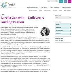 Unilever: A Guiding Passion - Forté Foundation