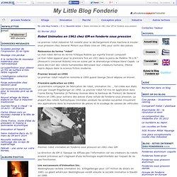 Robot Unimates en 1961 chez GM en fonderie sous pression - Fonderie - Le blog technologie de la fonderie