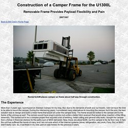 Unimog Camper Construction 200710