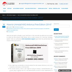 How to Uninstall AVG Antivirus Free Edition 2014- (800)243-0051 Support