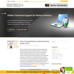 How to Uninstall Norton Internet Security in Mac OS X?