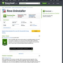 Revo Uninstaller - Free software downloads and software reviews