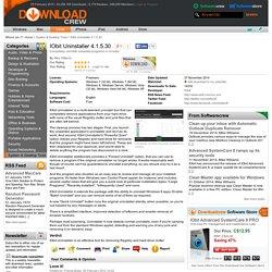 IObit Uninstaller 4.1.5.30 free download
