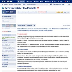 Revo Uninstaller Pro Portable Download