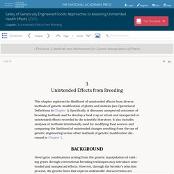 Safety of Genetically Engineered Foods: Approaches to Assessing Unintended Health Effects