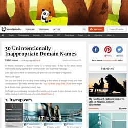30 Unintentionally Inappropriate Domain Names