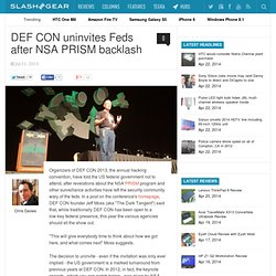 DEF CON uninvites Feds after NSA PRISM backlash