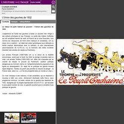 L'Union des gauches de 1932