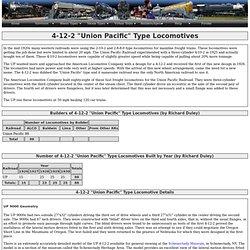 "4-12-2 ""Union Pacific"" Type Locomotives"